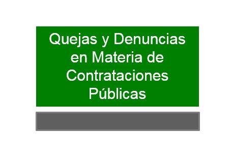 Quejas y denuncias en materia de Contrataciones Públicas