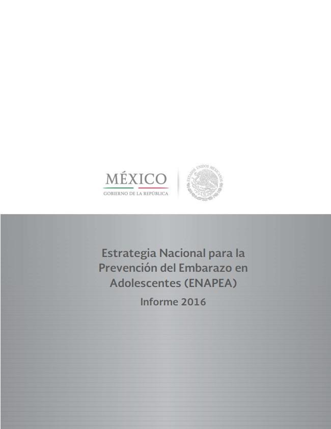 Caratula del documento Estrategia Nacional para la Prevención del Embarazo en Adolescentes (ENAPEA)