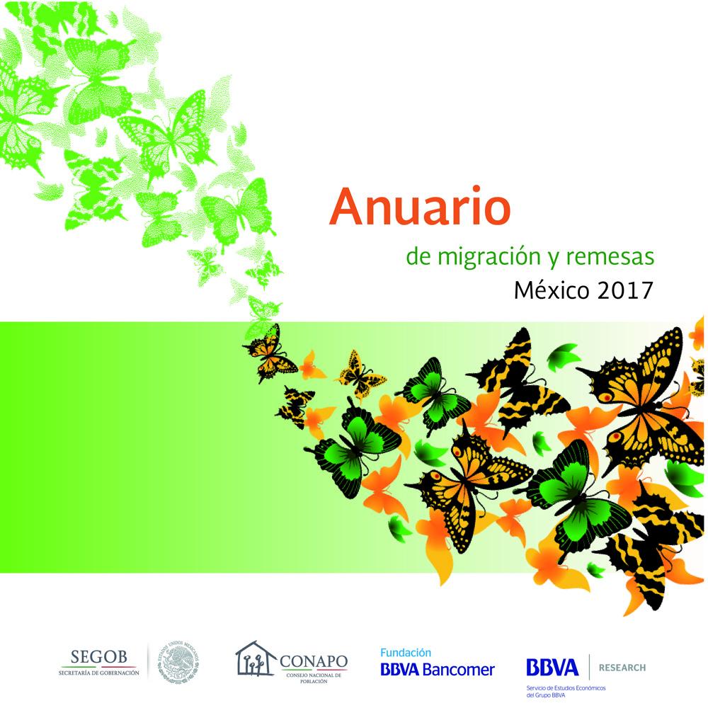 Portada de publicación con mariposas verdes y naranjas