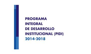 Portada del Programa Integral de Desarrollo Institucional (PIDI)