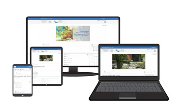 Sistema de Educación a distancia en diversos dispositivos.