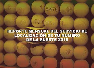 En este documento encontrarás un reporte del número de ciudadanos que consultaron la ubicación de algún número específico de billete de Lotería Nacional actualizado al mes de enero del 2018