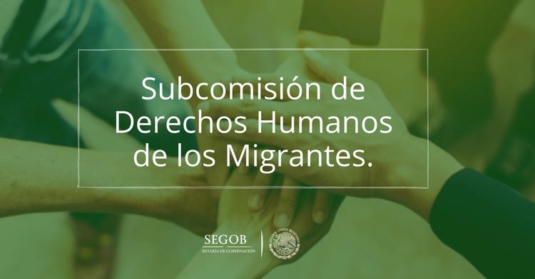 Subcomisión de Derechos Humanos de los Migrantes.