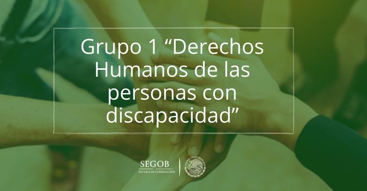 """Grupo 1 """"Derechos Humanos de las personas con discapacidad"""""""