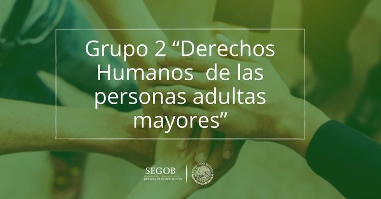 """Grupo 2 """"Derechos Humanos  de las personas adultas mayores"""""""