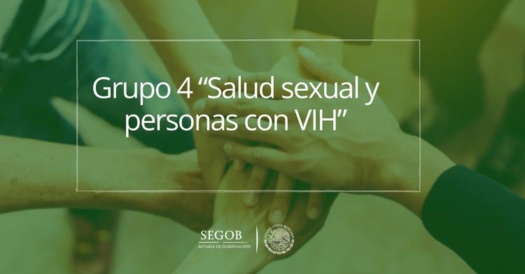 """Grupo 4 """"Salud sexual y personas con VIH"""""""