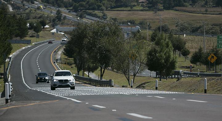 En la imagen se observa el tramo carretero Atlacomulco-Maravatío, operada a través del Nuevo Modelo de Operación de Autopistas.