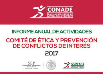 Informe Anual de Actividades Comité de Ética y Prevención de Conflictos de Interés 2017