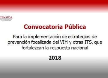Convocatoria pública 2018