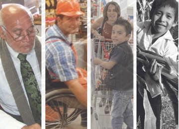 Imágenes de sectores vulnerables  de la población como niños, personas con discapacidad y adultos mayores