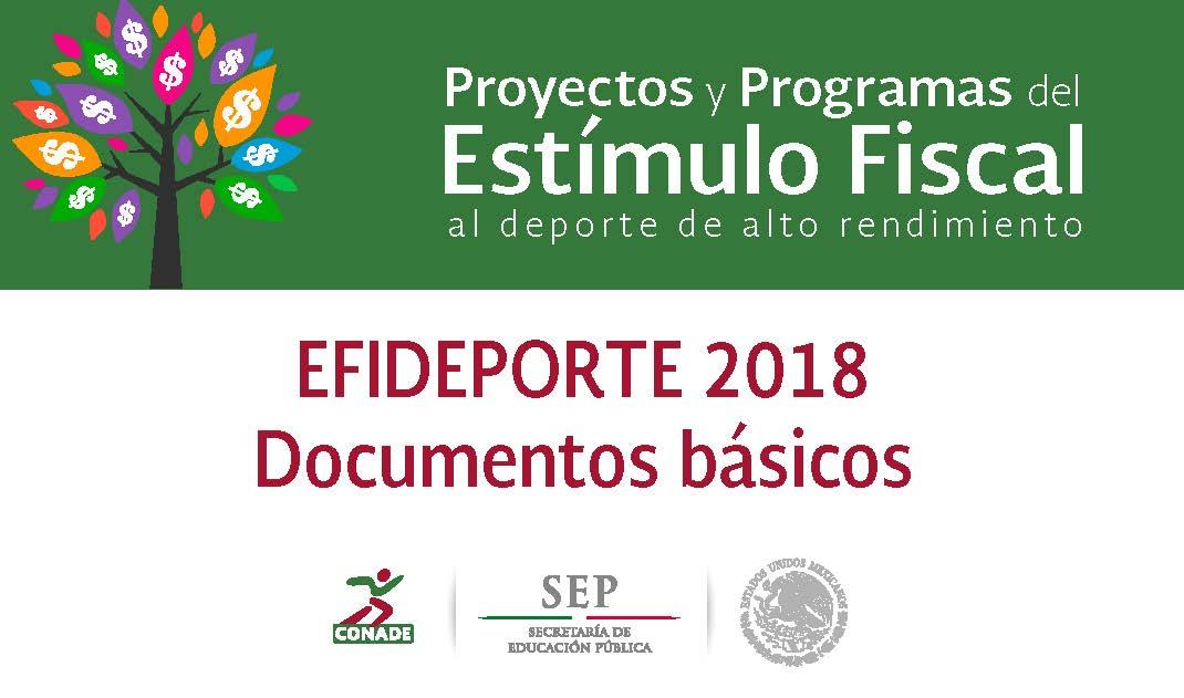 Consulta los documentos Básicos de EFIDEPORTE  2018