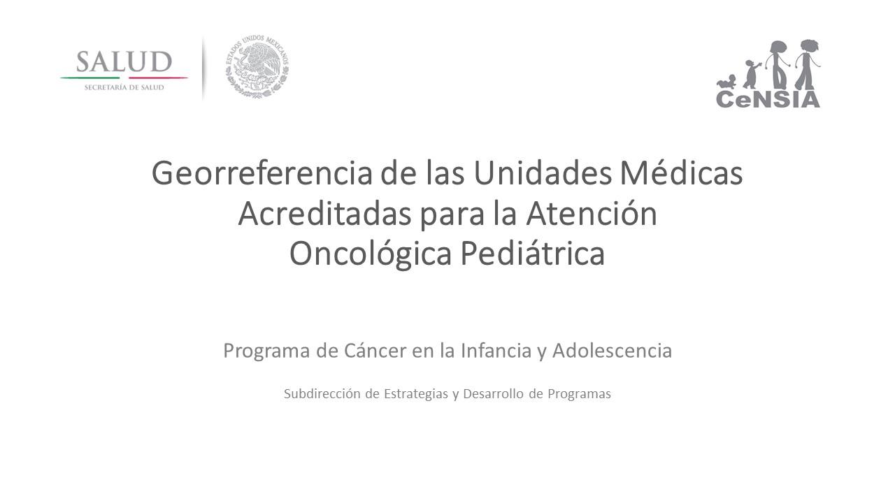 Proyecto de Georrerefencia Unidades Médicas Acreditadas.