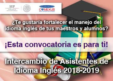 Intercambio de Asistentes de Idioma Inglés 2018 - 2019