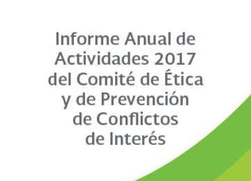 Informe Anual de Actividades 2017 del Comité de Ética