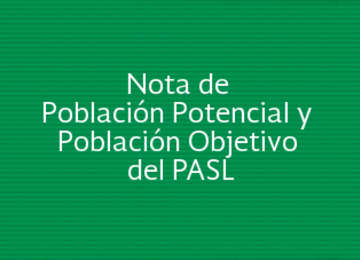 Nota de Población Potencial y Población Objetivo
