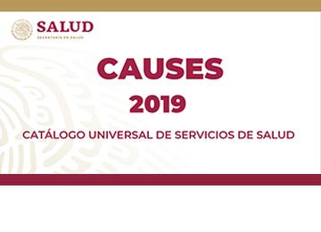 Catálogo Universal de Servicios de Salud, CAUSES 2019.