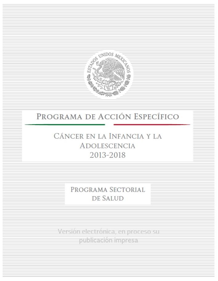 Programa de Acción Específico (PAE) Cáncer en la Infancia y la Adolescencia