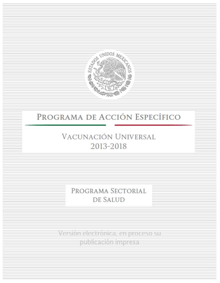 Programa de Acción Específico Vacunación Universal 2013-2018
