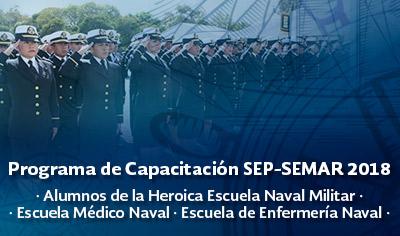 Programa de Capacitación SEP-SEMAR 2018 Alumnos/as de Escuelas Navales