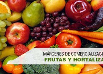 Márgenes de comercialización de frutas y hortalizas