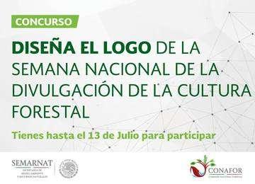 """Logotipo de la Convocatoria """"Diseña el logo de la Semana Nacional de la Divulgación de la Cultura Forestal"""""""