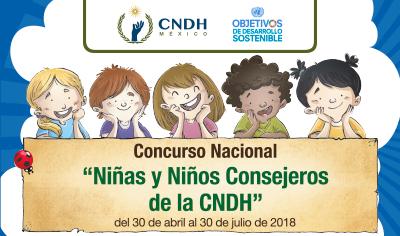 """Concurso Nacional """"Niñas y Niños Consejeros de la CNDH"""""""