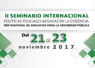 Este seminario representa una oportunidad inmejorable para fortalecer las capacidades institucionales para la gestión y análisis de información en las instituciones de seguridad pública.
