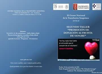 """Segundo taller """"Promoción de Donación Altruista de Sangre"""""""