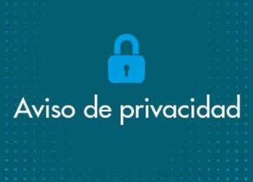 Imagen de un candado con la leyenda Aviso de privacidad