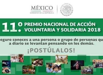 El Premio reconoce la labor de los voluntarios en México.