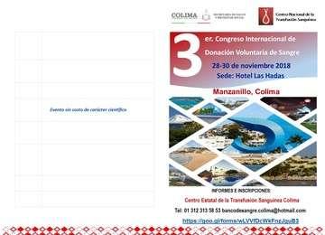 3er. Congreso Internacional  de Donación Voluntaria de Sangre