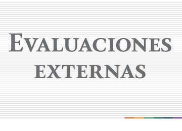 Evaluaciones Externas 2012-2017 San Luis Potosí