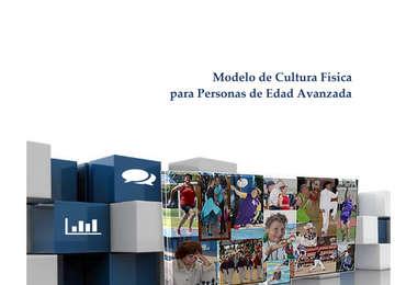 Fotografía de la portada del estudio Modelo de Cultura Física para personas de Edad Avanzada- varios adultos mayores realizando actividad física.