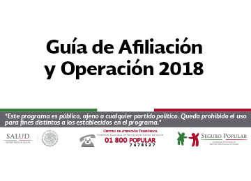 Conoce la Guía de Afiliación y Operación 2018.