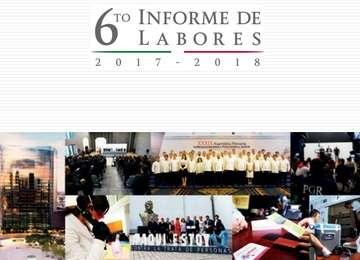 Portada del Sexto Informe de Labores