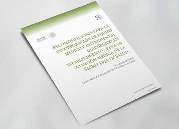 Imagen con portada de las Recomendaciones para la Incorporación de Equipo Médico de CENETEC