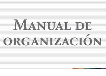 """""""Manual de organización"""