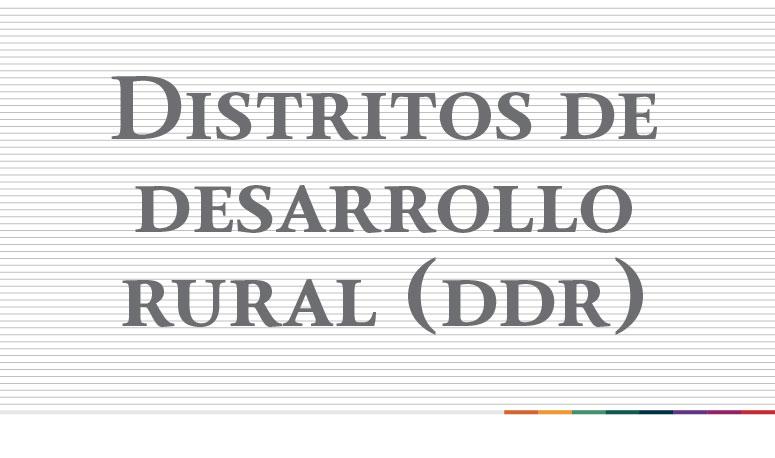 """""""Distritos de Desarrollo Rural (DDR) de la Delegación San Luis Potosi"""""""