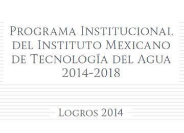 Imagen del Programa Institucional del Instituto Mexicano de Tecnología del Agua 2014-2018