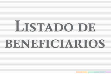 Listado de Beneficiarios 2018 San Luis Potosí