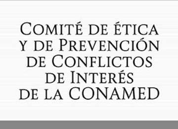 Letrero de Comité de Ética y de Prevención de Conflictos de Interés de la CONAMED