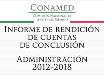 Leyenda de Informe de rendición de cuentas de conclusión, administración 2012 - 2018