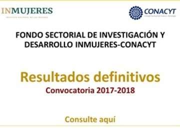 Fondo Sectorial de Investigación y Desarrollo INMUJERES-CONACYT