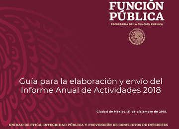 Guía para la elaboración y envío del Informe Anual de Actividades, 2018