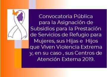 Convocatoria Pública 2019 Refugios