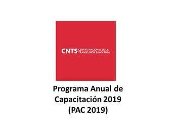 Programa Anual de Capacitación (PAC) 2019