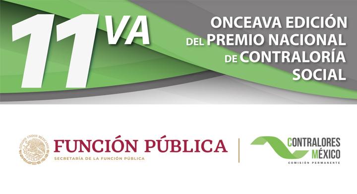 """Convocatoria para la Onceava Edición del """"Premio Nacional de Contraloría Social 2019"""""""