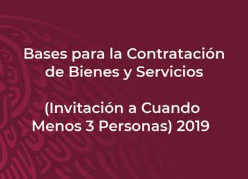 Bases para la Contratación de Bienes y Servicios (Invitación a Cuando Menos Tres Personas)