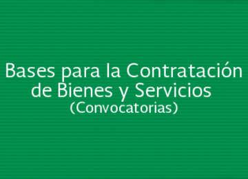 Bases para la Contratación de Bienes y Servicios (Licitación Pública Nacional)