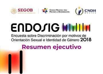 Banner sobre la Encuesta sobre Discriminación por motivos de Orientación Sexual e Identidad de Género 2018.